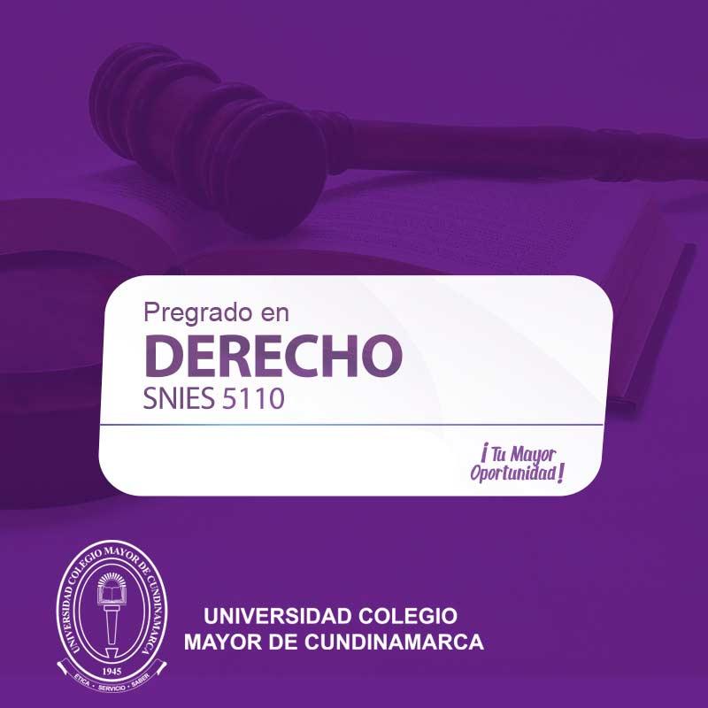 Derecho - Universidad Colegio Mayor de Cundinamarca - Unicolmayor