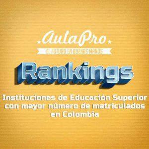 Rankings mas matriculados 2017 colombia